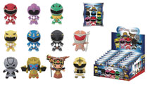 Image: Power Rangers Laser Cut Figural Keyring 24-Piece Blind Mystery Box Display  - Monogram Products
