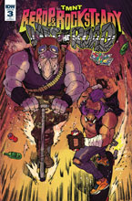 Image: Teenage Mutant Ninja Turtles: Bebop & Rocksteady Hit the Road #3 (incentive cover - Milonogiannis)  [2018] - IDW Publishing