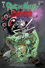 Image: Rick & Morty vs. Dungeons & Dragons #1 (cover A - Little) - IDW Publishing