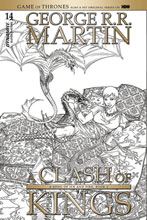 Image: George R. R. Martin's A Clash of Kings #14 (cover C incentive - Miller B&W) (10-copy) - Dynamite