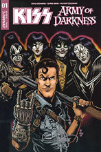 Image: Kiss / AoD #1 (variant Remark cover - Ken Haeser Demon Head) - Dynamite