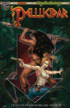 Image: Pellucidar #1 (variant Depths of the Earth cover - Mesarcia) - American Mythology Productions