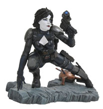 Image: Marvel Premier Collection Resin Statue: Domino  - Diamond Select Toys LLC