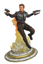 Image: Marvel Gallery PVC Diorama: Guardians of the Galaxy Vol. 2 - Star-Lord  (Unmasked Edition) - Diamond Select Toys LLC
