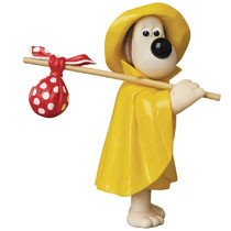 Image: Wallace & Gromit Ultra Detail Figure: Rain Coat Gromit  - Medicom Toy Corporation