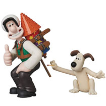 Image: Wallace & Gromit Ultra Detail Figure: Wallace & Gromit  - Medicom Toy Corporation