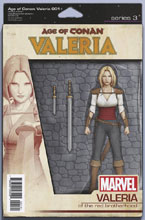 Image: Age of Conan: Valeria #1 (variant Action Figure cover - Christopher) - Marvel Comics