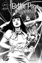 Image: Bettie Page: Unbound Vol. 03 #5 (incentive cover - Ohta B&W) (40-copy) - Dynamite