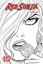 Image: Red Sonja Vol. 05 #7 (incentive cover - Conner B&W) (20-copy) - Dynamite