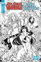 Image: Red Sonja and Vampirella Meet Betty and Veronica #4 (incentive cover - Braga B&W) (20-copy) - Dynamite