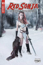 Image: Red Sonja: Birth of the She-Devil #3 (cover C - Cosplay) - Dynamite
