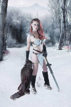 Image: Red Sonja: Birth of the She-Devil #3 (incentive cover - Cosplay virgin) (30-copy) - Dynamite