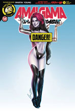 Image: Amalgama Space Zombie #1 (cover H - Chatzoudis risque) - Action Lab - Danger Zone
