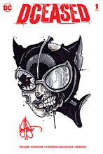 Image: DCeased #1 (DFE signed/remarked Haeser sketch - Catwoman) - Dynamic Forces
