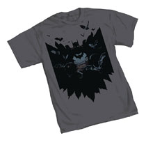 Image: Batman T-Shirt: Bats  (XXL) - Graphitti Designs