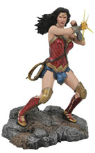 Image: DC Gallery PVC Figure: JL Movie - Wonder Woman  (Bracelets) - Diamond Select Toys LLC