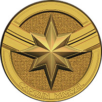 Image: Pewter Lapel Pin: Captain Marvel Logo  - Monogram Products