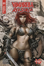 Image: Vampirella / Red Sonja #1 (incentive cover - Chew) (15-copy) - Dynamite