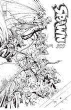 Image: Spawn #300 (cover P - Opena black & white) - Image Comics
