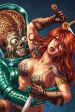 Image: Mars Attacks / Red Sonja #1 (incentive 1:35 cover - Quah Virgin) - Dynamite