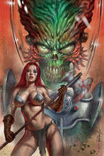 Image: Mars Attacks / Red Sonja #1 (variant cover - Parrillo virgin) - Dynamite