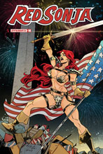 Image: Red Sonja #18 (incentive 1:7 America Together cover - Miracolo) - Dynamite
