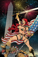 Image: Red Sonja #18 (incentive 1:15 America Together cover - Miracolo Virgin) - Dynamite