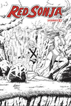 Image: Red Sonja Vol. 05 #18 (incentive 1:50 cover - Pepoy Seduction B&W) - Dynamite