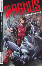 Image: Magnus: Robot Fighter #3 (50-copy incentive cover - Segovia) - Dynamite