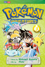 Image: Pokemon Adventures Vol. 03: Red Blue GN  (current printing) - Perfect Square