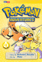 Image: Pokemon Adventures Vol. 04: Red Blue GN  (current printing) - Perfect Square