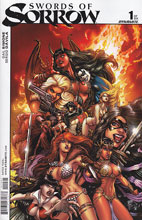 Image: Swords of Sorrow #1 (Chin variant incentive cover - 01061) (5-copy) - Dynamite