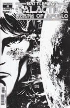 Image: Battlestar Galactica: Death of Apollo #6 (Smith b&w variant incentive cover - 06051) (10-copy) - Dynamite
