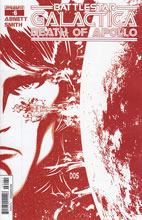 Image: Battlestar Galactica: Death of Apollo #6 (Smith Cylon Red variant incentive cover - 06071) (25-copy) - Dynamite