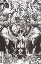 Image: Blood Queen vs. Dracula #3 (Anacleto b&w variant incentive cover - 03031) (10-copy) - Dynamite