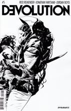 Image: Devolution #5 (Jae Lee b&w variant incentive - 05021) (10-copy) - Dynamite