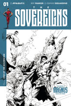 Image: Sovereigns #1 (Tan b&w incentive cover - 01071) (30-copy) - Dynamite