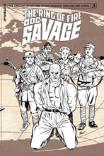Image: Doc Savage: Ring of Fire #3 (Marques b&w incentive cover - 03041) (10-copy) - Dynamite