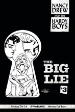 Image: Nancy Drew and the Hardy Boys: The Big Lie #3 (Charretier b&w incentive cover - 03031) (10-copy)  [2017] - Dynamite