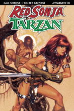 Image: Red Sonja / Tarzan #1 (cover A - Hughes)  [2018] - Dynamite