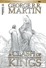 Image: George R. R. Martin's A Clash of Kings #11 (cover C incentive - Miller B&W) (10-copy) - Dynamite