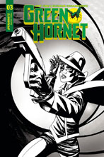 Image: Green Hornet Vol. 02 #3 (cover C incentive - McKone B&W) (10-copy)  [2018] - Dynamite