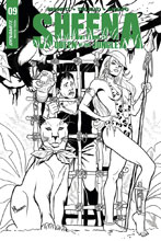 Image: Sheena: Queen of the Jungle #9 (cover E incentive - Sanapo B&W) (10-copy) - Dynamite