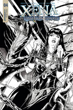 Image: Xena: Warrior Princess Vol. 04 #4 (cover D incentive - Cifuentes B&W) (20-copy) - Dynamite
