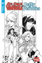 Image: Red Sonja and Vampirella Meet Betty and Veronica #1 (incentive cover - Braga B&W) (20-copy) - Dynamite
