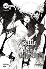 Image: Bettie Page: Unbound Vol. 03 #2 (incentive cover - Williams B&W) (20-copy) - Dynamite