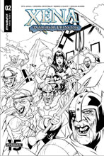 Image: Xena: Warrior Princess Vol. 03 #2 (incentive cover - Lupacchino B&W) (20-copy) - Dynamite