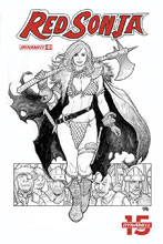 Image: Red Sonja #1 (variant cover - Cho B&W) (CGC Graded) - Dynamite