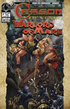 Image: Carson of Venus / Warlord of Mars #1 (main cover - Kaluta) - American Mythology Productions