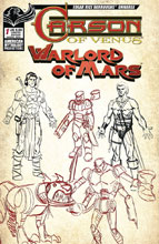 Image: Carson of Venus / Warlord of Mars #1 (variant Character Design cover - Cyrus Mesarcia) - American Mythology Productions